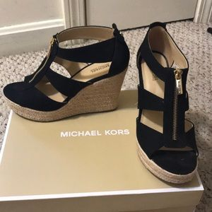 Michael Kors wedges wore once size 7